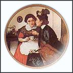 Gossiping In The Alcove Collector Plate by Norman Rockwell