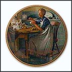 Working In The Kitchen Collector Plate by Norman Rockwell