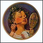 Making Believe At The Mirror Collector Plate by Norman Rockwell