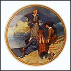 Waiting On The Shore Collector Plate by Norman Rockwell