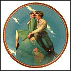 Heavenly Dreams Collector Plate by Norman Rockwell MAIN