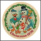 Building A Snowman Collector Plate by Disney Studio Artists