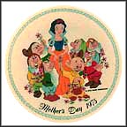 Snow White And The Seven Dwarfs Collector Plate by Disney Studio Artists