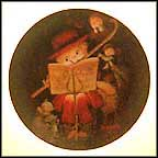 The Flutist Collector Plate by Juan Ferrandiz Castells