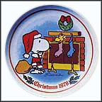 Filling The Stocking Collector Plate by Charles Schulz
