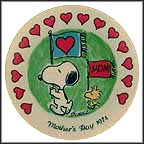 Snoopy And Woodstock On Parade Collector Plate by Charles Schulz MAIN