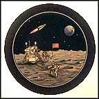 First Men On The Moon, July 20, 1969 Collector Plate