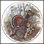 Ruffed Grouse Collector Plate by A. J. Heritage MAIN
