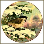 Carolina Chickadee Collector Plate by A. E. Ruffing MAIN