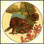 Beaver Collector Plate by Sy And Dot Barlowe MAIN