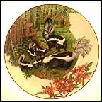 Striped Skunk Collector Plate by Sy And Dot Barlowe MAIN