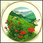 Bee Balm Collector Plate by Ralph Mark MAIN
