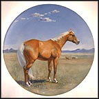 The American Quarterhorse Collector Plate by Susie Whitcombe MAIN