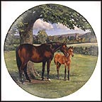 The English Thoroughbred Collector Plate by Susie Whitcombe