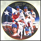 Nolan Ryan - The No Hitter Man Collector Plate by Terrence Fogarty