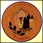 Friendship Collector Plate by Mary Jane Hillegass MAIN