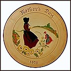 Amish Mother & Daugher Collector Plate by Mary Jane Hillegass