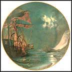 Moonlight In The Arctic - artist signed Collector Plate by John Stobart MAIN
