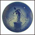 The Shepherdess And The Chimney Sweep Collector Plate by Svend Otto