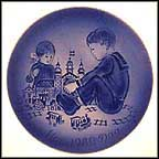 Nursery Scene Collector Plate by Mads Stage