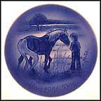 Boy With Horse Collector Plate by Mads Stage