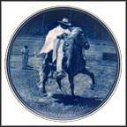 Peruvian Paso Collector Plate by Poul T. Christensen