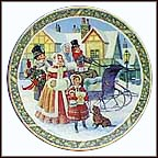 Here We Come A'caroling Collector Plate by Jack Woodson