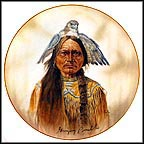 Chief Sitting Bull - artist signed Collector Plate by Gregory Perillo MAIN