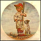 The Big Leaguer - artist signed Collector Plate by Gregory Perillo