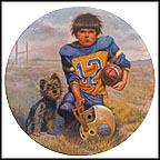 Quarterback Collector Plate by Gregory Perillo