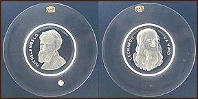 Da Vinci / Michelangelo - set of 2 Collector Plate