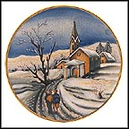 Christmas Eve Collector Plate by Vincente Tiziano