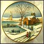 Dutch Christmas Collector Plate by Vincente Tiziano MAIN
