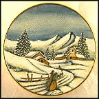 Log Cabin Christmas Collector Plate by Vincente Tiziano