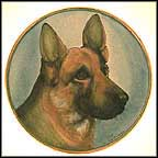 German Shepherd Collector Plate by Vincente Tiziano MAIN