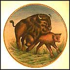 Buffalo Collector Plate by Guilio Gialletti And Franco Lamincia