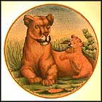 Lions Collector Plate by Guilio Gialletti And Franco Lamincia