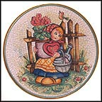 Valentine Girl Collector Plate by Vincente Tiziano