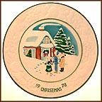 White Christmas Collector Plate