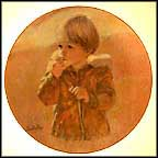 Autumn Wanderer - artist signed Collector Plate by Thornton Utz