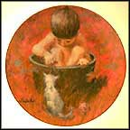 Bathtime Visitor Collector Plate by Thornton Utz