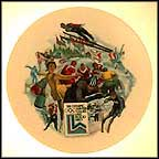 Winter Olympics - Lake Placid Collector Plate by Alton S. Tobey