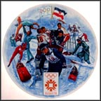 Winter Olympics - Sarajevo Collector Plate by Alton S. Tobey MAIN