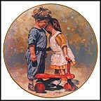 Old Fashioned Persuasion - artist signed Collector Plate by Eugene Christopherson