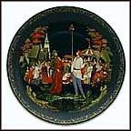 The Priest And His Servant Balda Collector Plate by Oleg Vladimirovich An