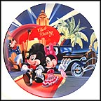 Arrival Of Mickey And Minnie Collector Plate by Disney Studio Artists