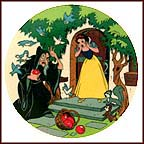 The Witch And The Apple Collector Plate by Disney Studio Artists