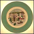 Christmas On The Farm Collector Plate