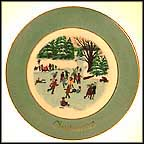 Skaters On The Pond Collector Plate