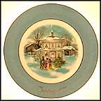 Carolers In The Snow Collector Plate